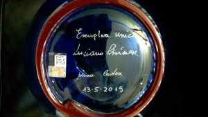 Firma di Luciano Chinese e Simone Cenedese sul fondo del vaso, pezzo unico