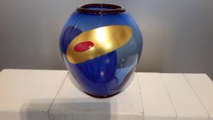 Vaso di Luciano Chinese pezzo unico eseguito nella fornace muranese di Simone Cenedese